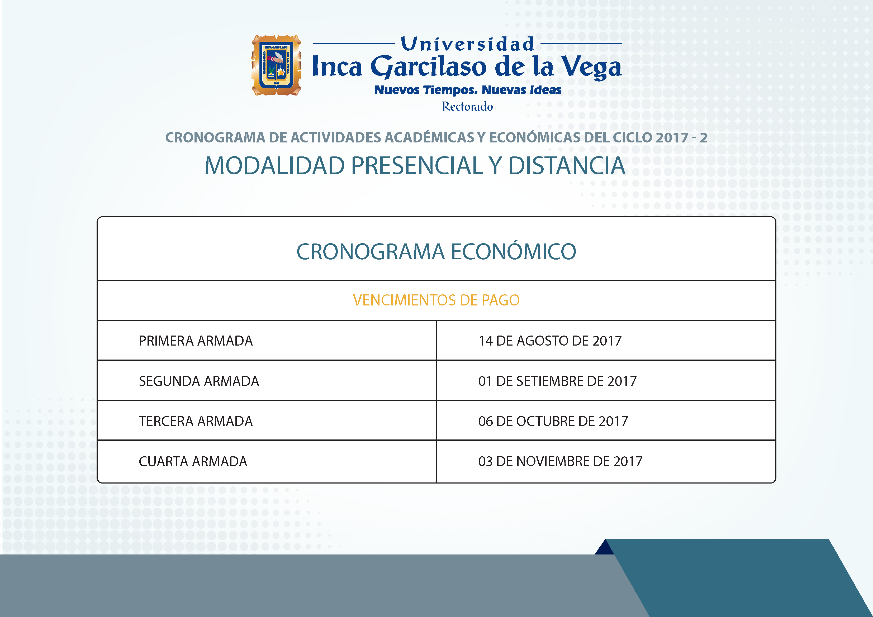 Cronograma de Actividades Académicas 2017-2