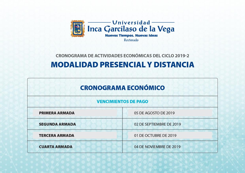 Cronograma de Actividades Académicas 2019-2