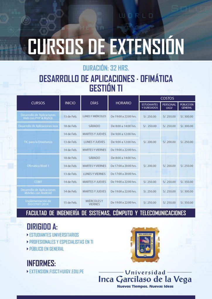 Cursos de Extensión FISCT 2017