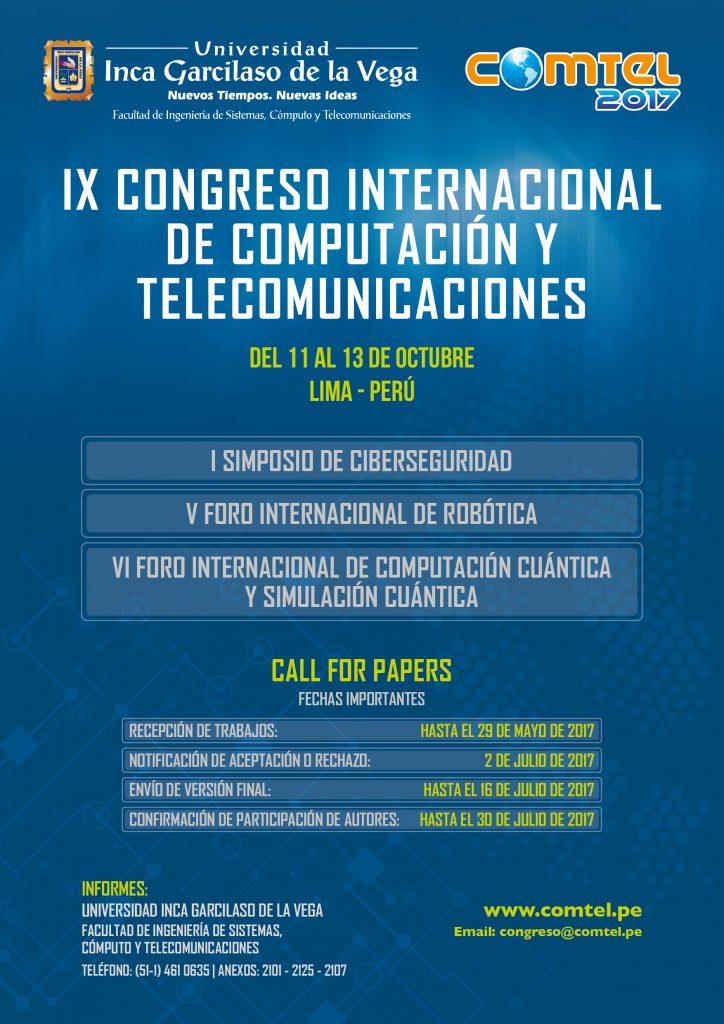 IX CONGRESO INTERNACIONAL DE COMPUTACIÓN Y TELECOMUNICACIONES